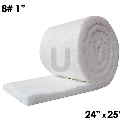 Unitherm Ceramic Fiber Insulation Blanket Roll 8 Density 2300f1x24x25