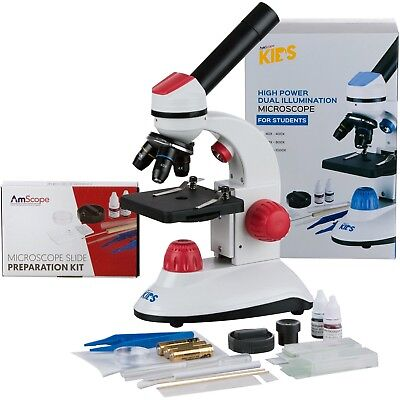 Amscope-kids 40x-1000x Dual Illumination Microscope For Kids Red