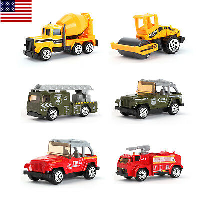 Toys For Boys Kids Children Fire Truck Military Vehicles  	Construction Truck