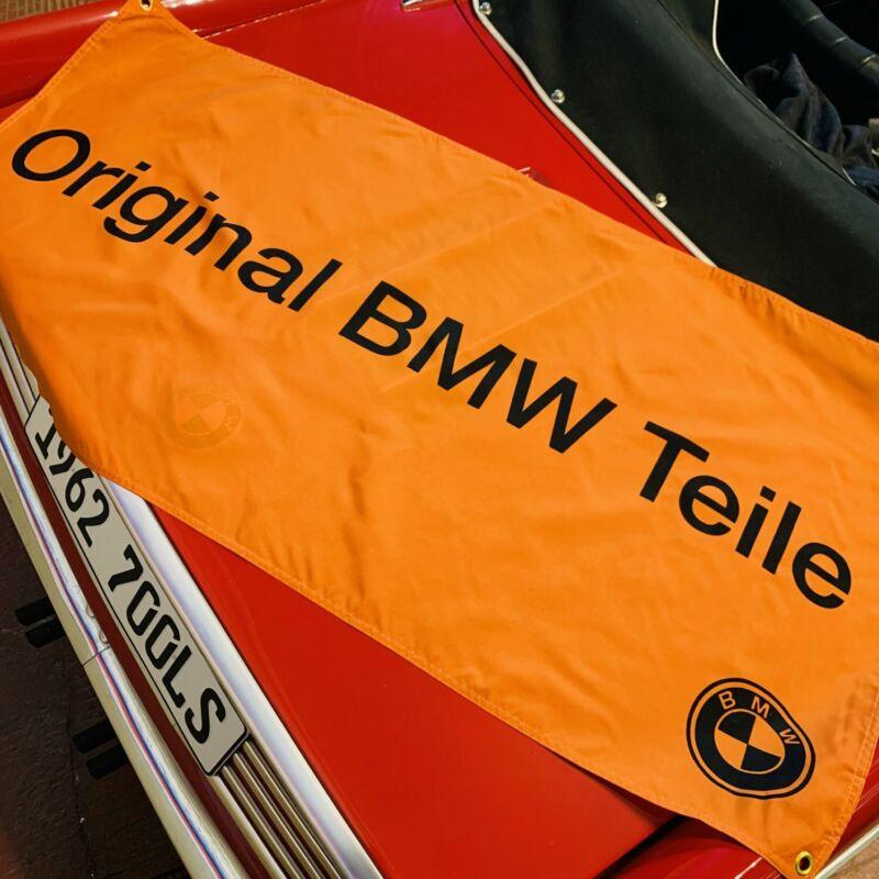 """""""Original BMW Teile"""" Dealer Banner Orange Black M NOS OEM Display Sign M E Serie"""