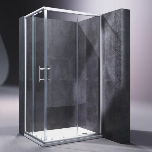 Duschkabine Eckeinstieg Schiebetür mit/ohne Duschtasse Duschabtrennung Duschwand