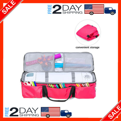 Best Maker Foldable Bag For Cricut Explore Air 2 And Supplies Bag Only Rose Red