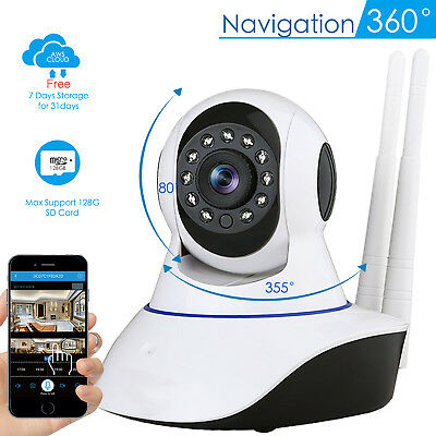 Wireless 1080P Pan/Tilt IP Security Camera Network Home Night Vision WiFi Webcam