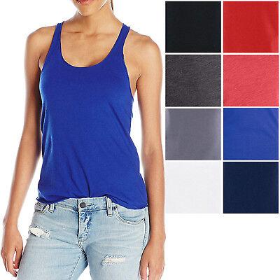 American Apparel Ladies Racerback Tank Top T-Shirt 50/50 Poly Cotton XS S M L XL American Apparel Tank Top