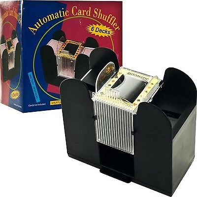 Casino 6 Deck Automatic Card Shuffler NEW Free Shipping