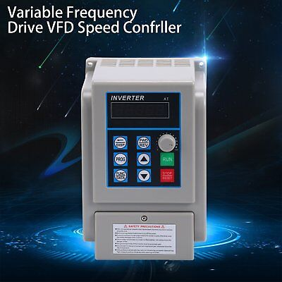 220v 1.5kw Vfd Variable Frequency Drive Inverter Speed Controller Converter Us