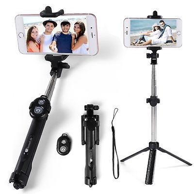 Extendable Selfie Stick Tripod Remote Bluetooth Shutter For iPhone 8 Plus X 7