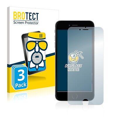 3x Protector Pantalla para Apple iPhone 6S Plus Cristal Mate Lamina de...