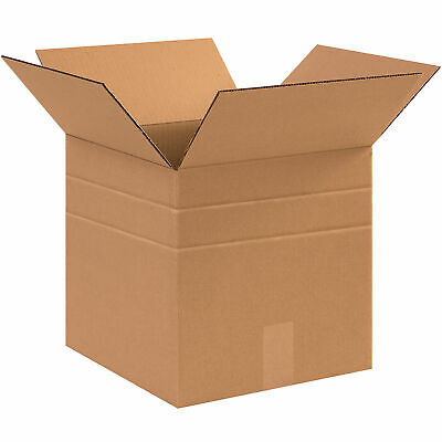 12 X 12 X 12 Multi-depth Cardboard Corrugated Boxes 65 Lbs Capacity Ect-32