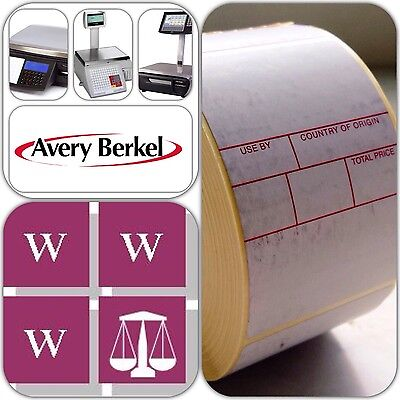 Avery Berkel Thermal Labels - Format 3, 49x75mm, 36 Rolls, 18,000 Labels