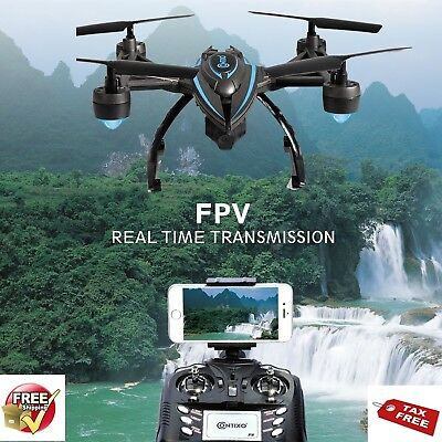Flying Drone With Camera FPV Quadcopter Wifi HD Video Spy Wireless Auto Return