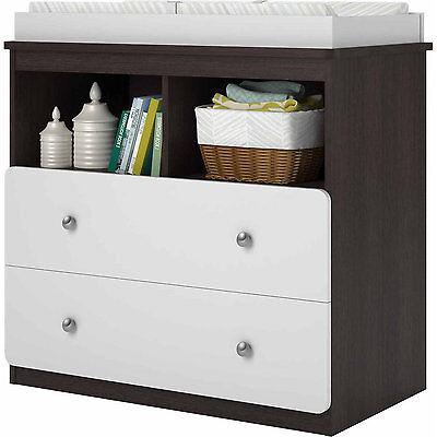 Baby Changing Table Wood Infant Dresser Furniture Nursery Drawer Storage