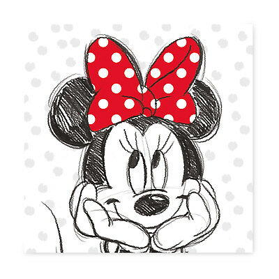 Wandbild Keilbild Leinwand Keilrahmenbild|Disneys Minnie Mouse|35x35 cm|RIVO 16