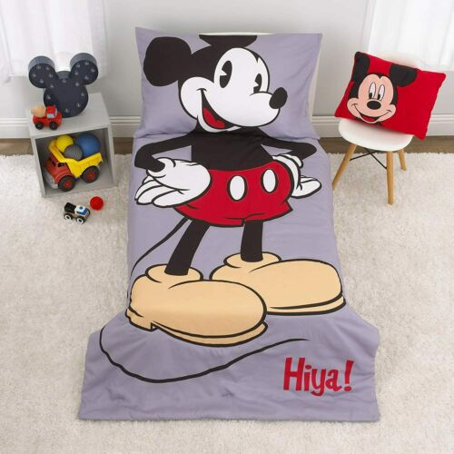 Disney Mickey Mouse - 4Piece Toddler Bed Set with Comforter BEST SELLER
