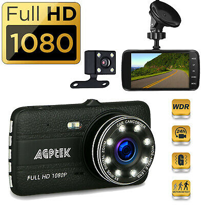 Dual Dash Cam 1080P Car Truck DVR Dashboard Camera Night Vision Loop Recording