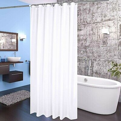 White PAVE Deluxe Shower Curtain Liner Mildew Resistant and Antimicrobial 72''