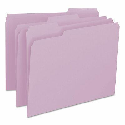 Smead File Folders 13 Cut Top Tab Letter Lavender 100box 12443