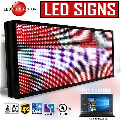 Led Super Store Full Color 21x50 Programmable Msg. Scrolling Emc Outdoor Sign