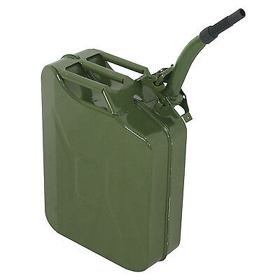 5 Gal 20l Jerry Can Gasoline Fuel Can Emergency Backup Caddy Tank