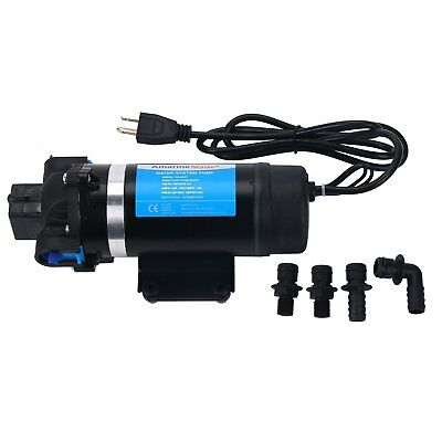 110v Ac 7lpm 160psi High Pressure Self-priming Diaphragm Water Pump Us Free Ship