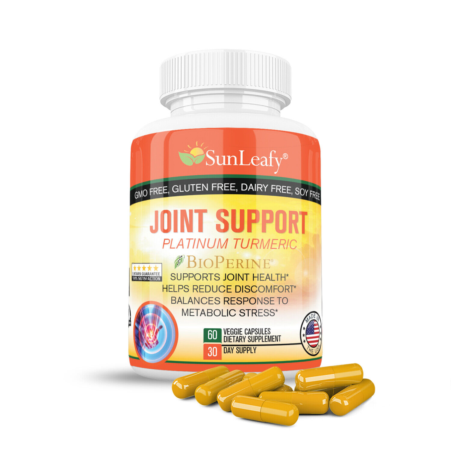 Joint Support Turmeric, Glucosamine, MSM, Free Shipping Worl