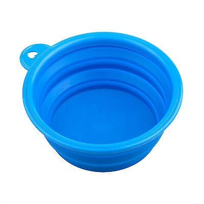 DIGIFLEX Blue Silicone Collapsible Dog Food Bowl Compact Outdoor Travel Feeder
