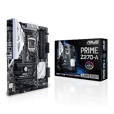 Asus PRIME Z270-A Intel Z270  LGA1151 DDR4 ATX SLI Crossfire AURA PC Motherboard