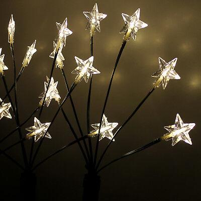 be Sternenstäbe 24 LED Aussenbeleuchtung H66cm mit Erdspieß (4 Leuchtstäbe)