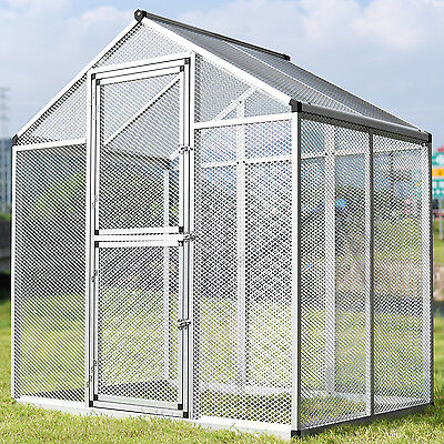 LARGE Heavy Duty Aluminum Bird Cage Parrot Cockatiel Macare Pet Walk In Aviary