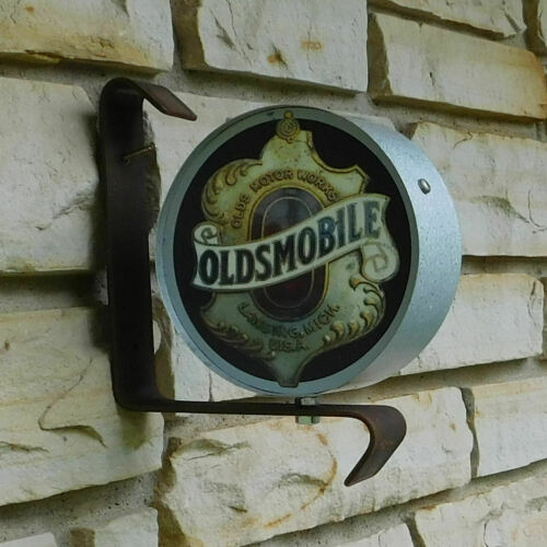 Oldsmobile Car old logo emblem miniature wall post service Sign USA made