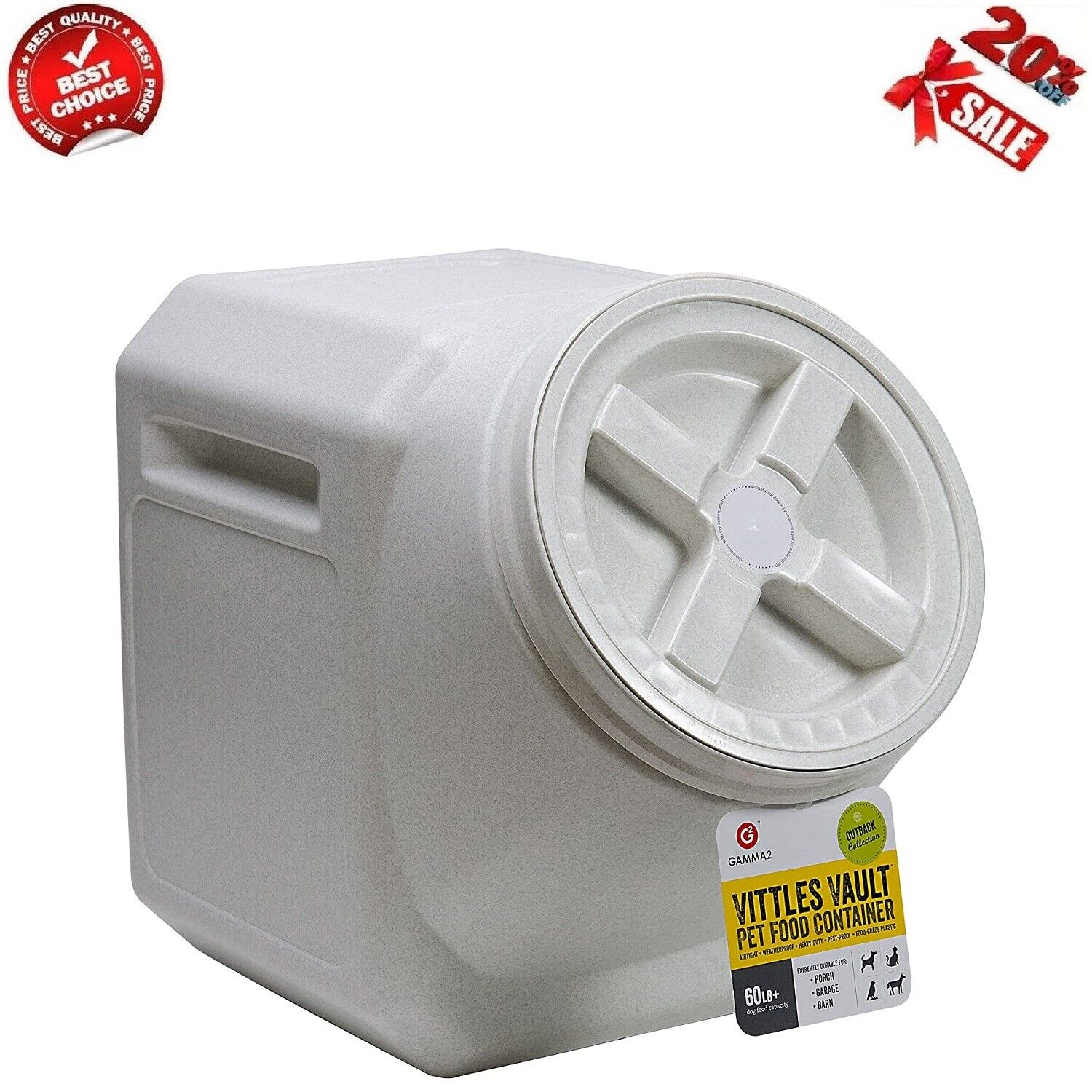 New Vittles Vault 60-Pound Stackable Pet Food Storage Dog Cat Container Airtight