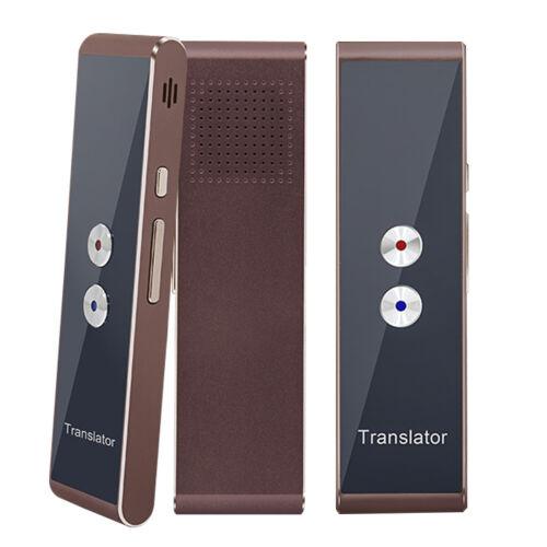 Language Translator Device,Portable Smart Two-Way Real Time Multi-Language-Brown
