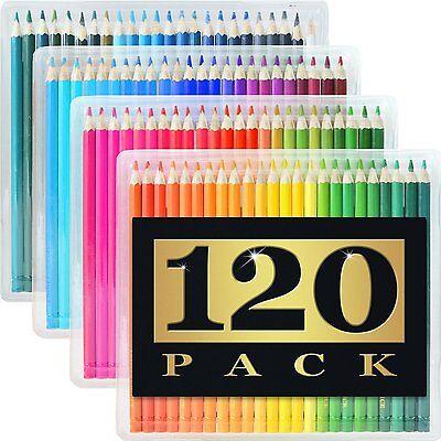 120 Colored Pencils GIANT SET Unique Colors Premium Kids & Pro Art [FREE SHIP]