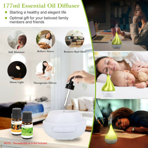 led aroma diffuser air humidifier therapeutic aromatherapy