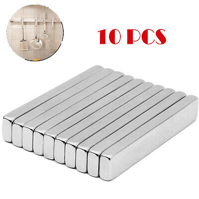 10x N52 Big Block Bar Fridge Magnet Strong Rare Earth Neodymium 60 X10 X 3mm