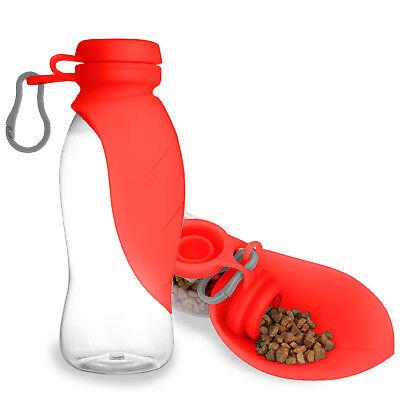 Portable Dog Cat Pet Water Drink Dispenser Bottle Bowl 500ML/17oz for Outdoor