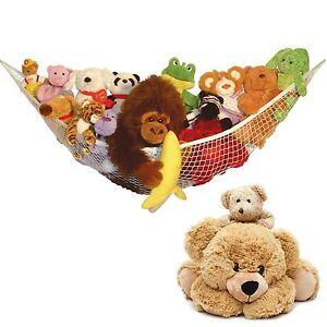 LARGE TOY HAMMOCK SOFT TEDDY MESH BABY CHILDS BEDROOM TIDY STORAGE NURSERY NET