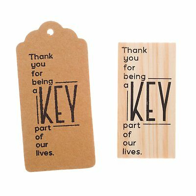 Wooden Rubber Stamp for Tags, Wedding Guest Favors (Thank You Modern)](Favors For A Wedding)