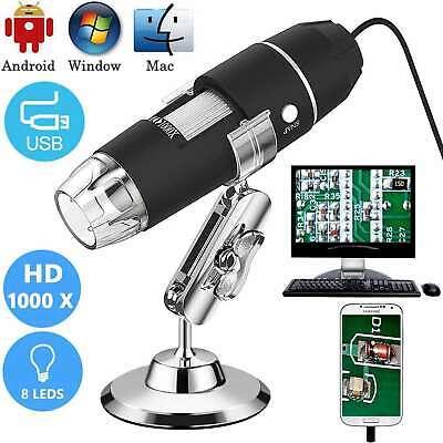 Mini 1000X USB Digital Mikroskop Lupe Fach Endoskop HD Microscope Kamera 8 LEDs - Digital Usb