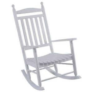 Jack Post Knollwood KN22 W Classic White Wood Front Porch Rocker Rocking  Chair