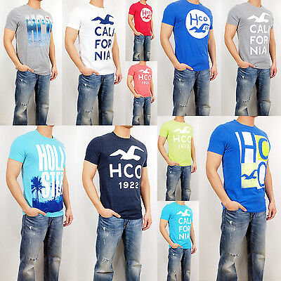 New HOLLISTER By Abercrombie Men Muscle Fit Beacon's Beach T Shirt Tee NWT