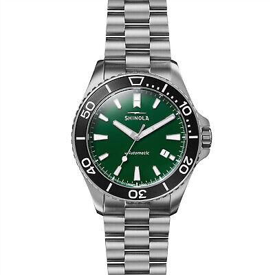 Shinola Lake Ontario Green Monster Automatic Watch 43mm Green Auto S0120169380