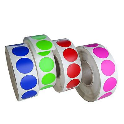 Sticker Labels 34 Inch 19mm Color Coding Dots Rolls Writable Surface 1050 Pack