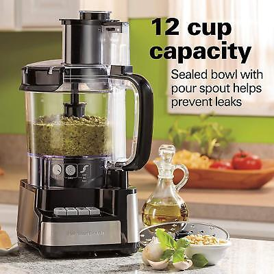 Hamilton Strand 12-Cup Stack and Snap Food Processor (70725A) Brand New