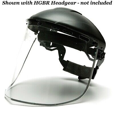 Pyramex S1040 Aluminum Bound Face Shield Only Headgear Sold Seperately 1ea