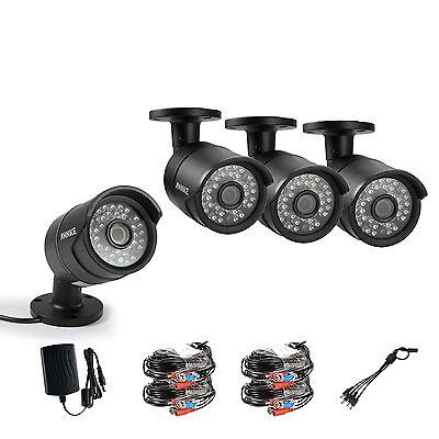 ANNKE 4X HD 720P 36IR Indoor Outdoor Security CCTV Cameras IR-Cut Night Vision