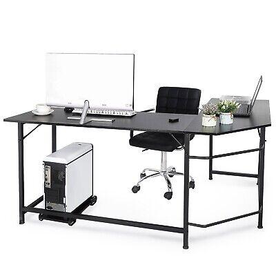 66 L-shaped Desk Corner Computer Gaming Laptop Table Workstation Home Office