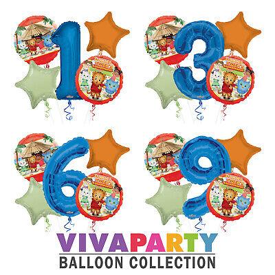 Daniel Tiger's 1-9 Birthday Balloon Bouquet 5 pcs Boys Birthday Party