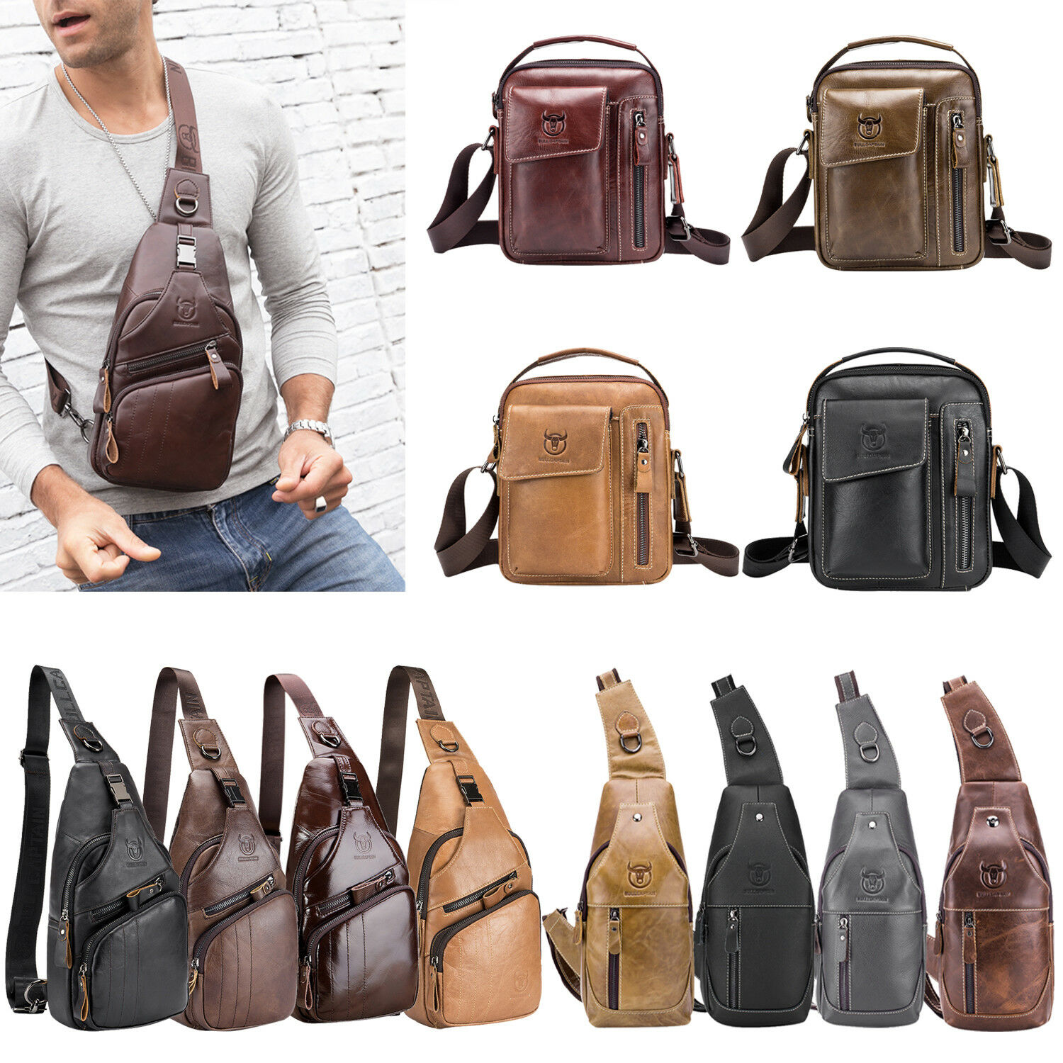bull-captain-men-leather-sling-shoulder-bag-fanny-waist-chest-pack-crossbody-bag