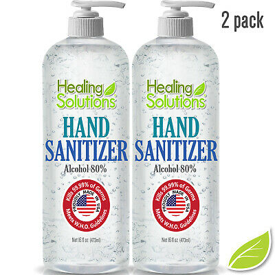 Hand Sanitizer 80% Alcohol meets new WHO/CDC Standard Ships FREE Today USA Made!